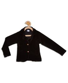 612 League Full Sleeves Front Open Jacket - Black