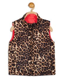 612 League Sleeveless Reversible Jacket Animal Print - Brown Black