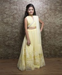 Shilpi Datta Som Lehenga Choli & Dupatta Set - Light Yellow