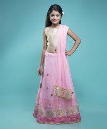 Shilpi Datta Som Lehenga Choli & Dupatta Set - Pink