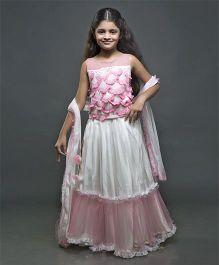 Shilpi Datta Som Lehenga - Pink & White