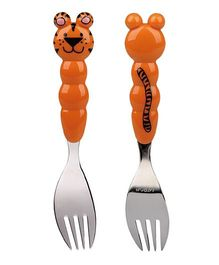 Eat4Fun Animos Kids Fork Tiger - Orange