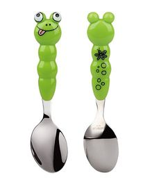 Eat4Fun Animos Kids Froggy Spoon - Green