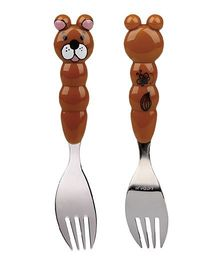 Eat4Fun Animos Kids Fork Bear - Brown