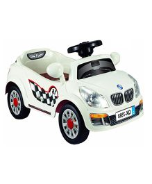 Pollys Pet Battery Operated Ride-On - Semi Assembled White