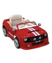Pollys Pet Battery Operated Ride-On Mustang - Semi Assembled Red