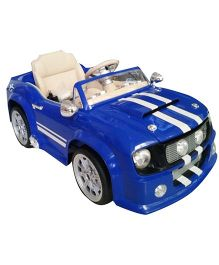 Pollys Pet Battery Operated Ride-On Mustang - Semi Assembled Blue