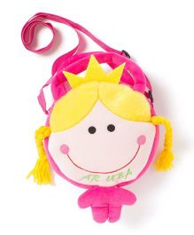 Wow Kiddos Doll With Crown Side Sling Bag - Pink