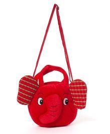 Wow Kiddos Elephant Side Align Bag - Red