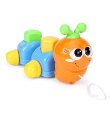 ABC Pull Along Caterpillar Toy - Orange Blue