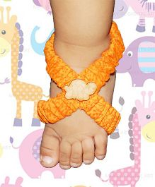 SnugOns Stylish Barefoot Sandals - Orange