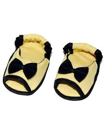SnugOns Baby Booties With Bow Applique - Yellow