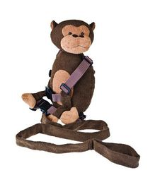 Playette Jackson The Monkey 2 In 1 Harness buddy - Brown
