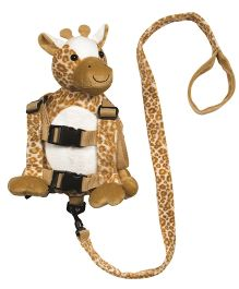 Playette Liam the Giraffe 2 In 1 Harness Buddy - Brown