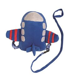 Playette Aeroplane 2 In 1 Harness Buddy - Blue