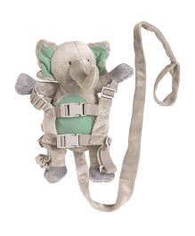 Playette Gatsby the Elephant 2 In 1 Harness Buddy - Grey