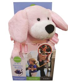 Playette Milly The Puppy 2 In 1 Harness Buddy - Pink