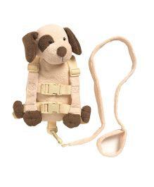 Playette Rusty The Patches Puppy 2 In 1 Harness Buddy - Brown