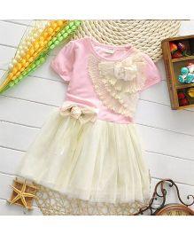 Pikaboo Short Sleeves Fanny Dress - Pink