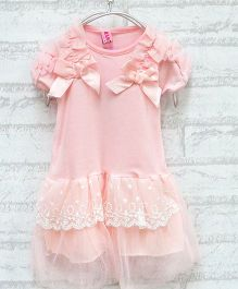 Pikaboo Short Sleeves Little Jenny Dress - Pink