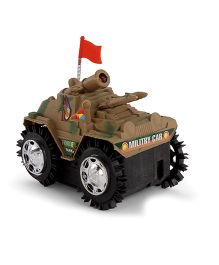 Playmate Battery Operated Tumbling Toy Tank - Brown