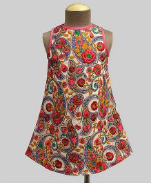 A.T.U.N  Rouge Bloom Embroidered Ava Dress - Multicolour