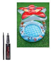 Intex Lil Star Shade Baby Pool with Intex - Mini Air Pump (Pack of 2)