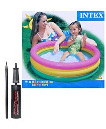 Intex - Sunset Glow Baby Pool with Intex - Mini Air Pump (Pack of 2)