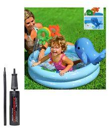 Intex Dolphin Baby Pools with Intex - Mini Air Pump (Pack of 2)
