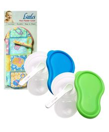 Combo pack of Feeding Cover & two Feeding Bowl (Pack of 3)
