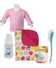 Combo pack of Medi Nurser,Tee,Bottle & Teat Brush,Feeding Bottle & Printed Blanket (Pack of 5)