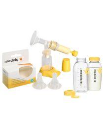 Combo pack of Breastmilk Bottles,Spare Teats & Breast Pump (Pack of 3)