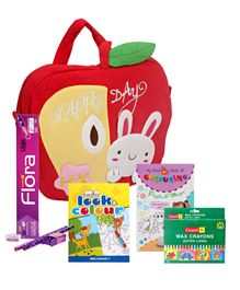 Happy Day-Kids Bag with Dot Coloring Books,Pencil Set & Crayons