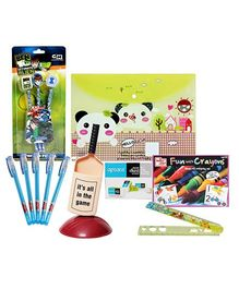 Coloring Set with Pen Stand,Pen,Bag Folder,Ruler,Eraser & Topper Pencil