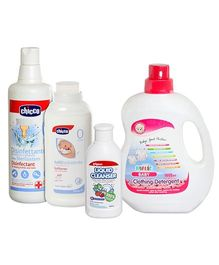 Baby Clothing Detergent with Disinfectant,Fabric softner & Bottle Nipple and Vegetable Cleanser