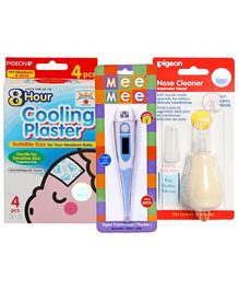 Baby cooling plaster with Digital Thermometer & Nose Cleaner