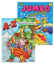 Navneet A-Z Coloring Book & My Jumbo Coloring Book