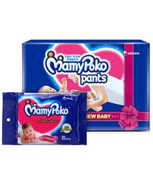 Mamy Poko Pants XS-10 with Mamy Poko Wipes -20 Pieces