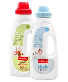 Babyhug Liquid Laundry Detergent - 550 ml and Babyhug Liquid Multi Purpose Cleanser - 550 ml - Pack of 2