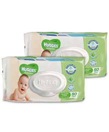 Huggies Thick Baby Wipes Imported - 80 Pieces - Pack of 2