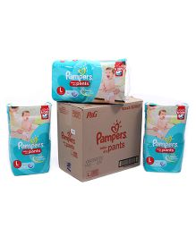 Pampers Pant Diapers Light And Dry Large Pack Of 3 - 52 Pieces