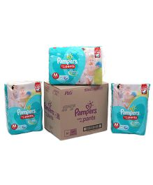 Pampers Pant Diapers Light And Dry Medium Pack Of 3 - 60 Pieces Each