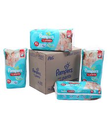 Pampers Pant Diapers Light And Dry Extra Large Pack Of 4 - 48 Pieces Each