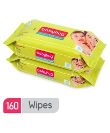 Babyhug Premium Baby Wipes - 80 Pieces ( Pack of 2)
