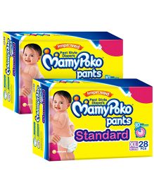 Mamy Poko Pants Standard Pant Style Diapers Extra Large - 28 PiecesPack Of 2