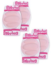 Babyhug Knee Protection Pads - White & Pink Pack Of 2