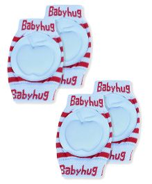 Babyhug Knee Protection Pads Apple Design - Blue & Red Pack Of 2