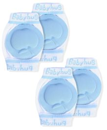 Babyhug Knee Protection Pads Apple Design - Blue & White Pack of 2