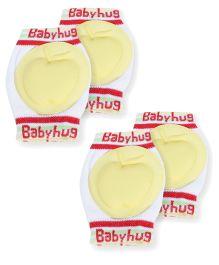 Babyhug Knee Protection Pads Apple Design - Yellow & White Pack Of 2