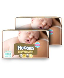 Huggies New Born Taped Diapers For The New Baby - 24 Pieces Pack Of 2